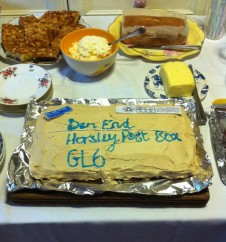 Cake to celebrate reinstatement of Downend's post box