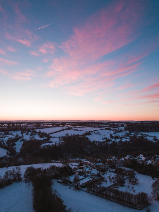 Drone View of Sunrise Near Our House