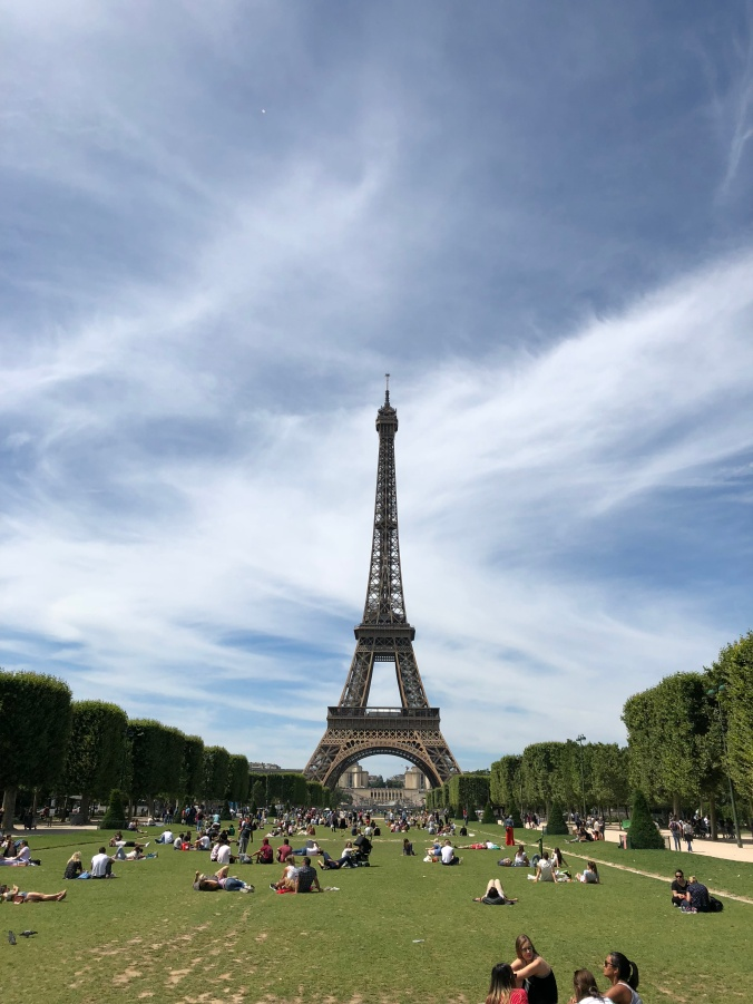 The Eiffel Tower From Champs De Mars