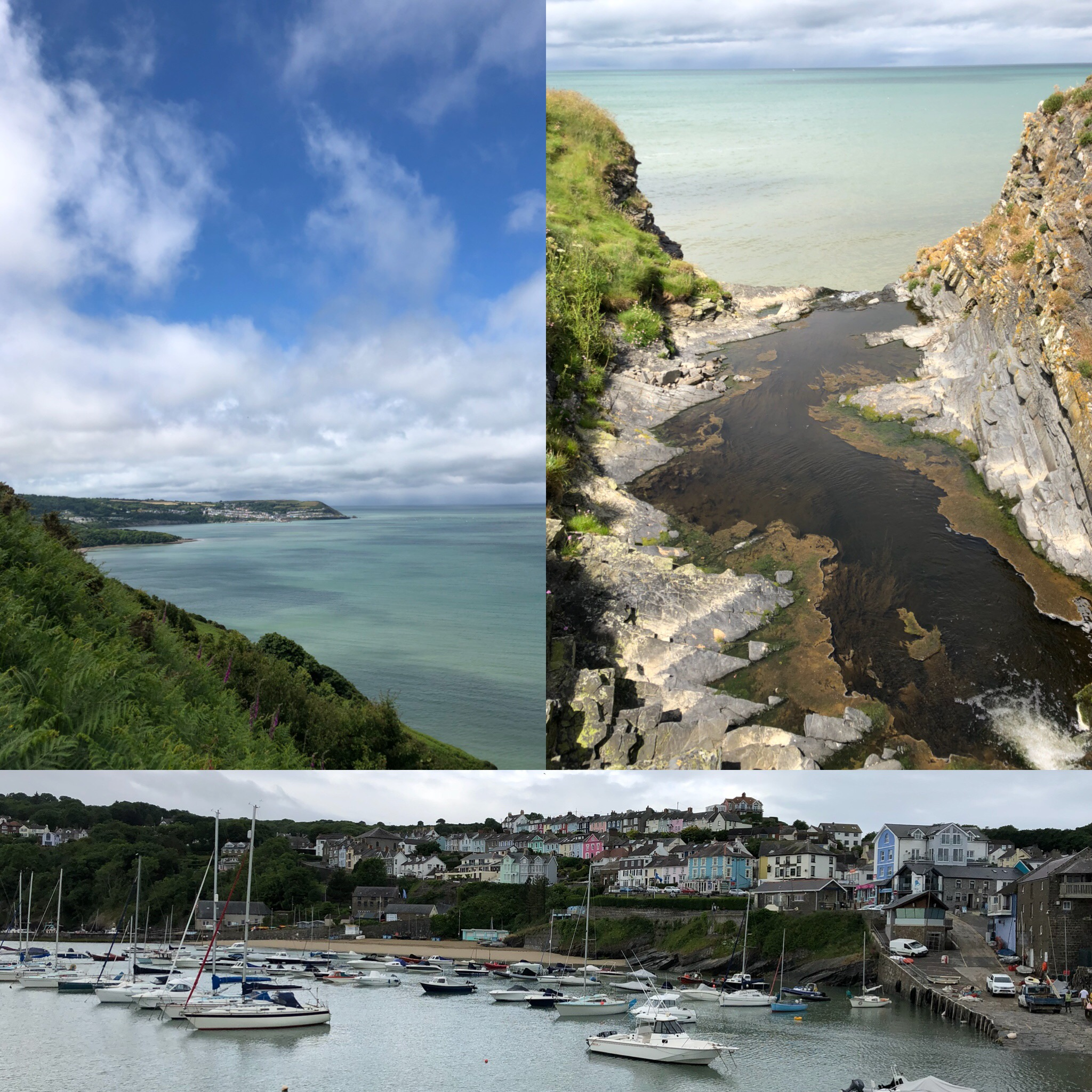 Views Of New Quay, Wales And Nearby Cliffs