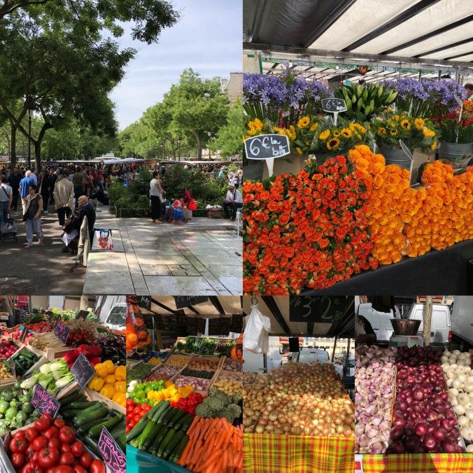 Street Market Near Place De La Republique