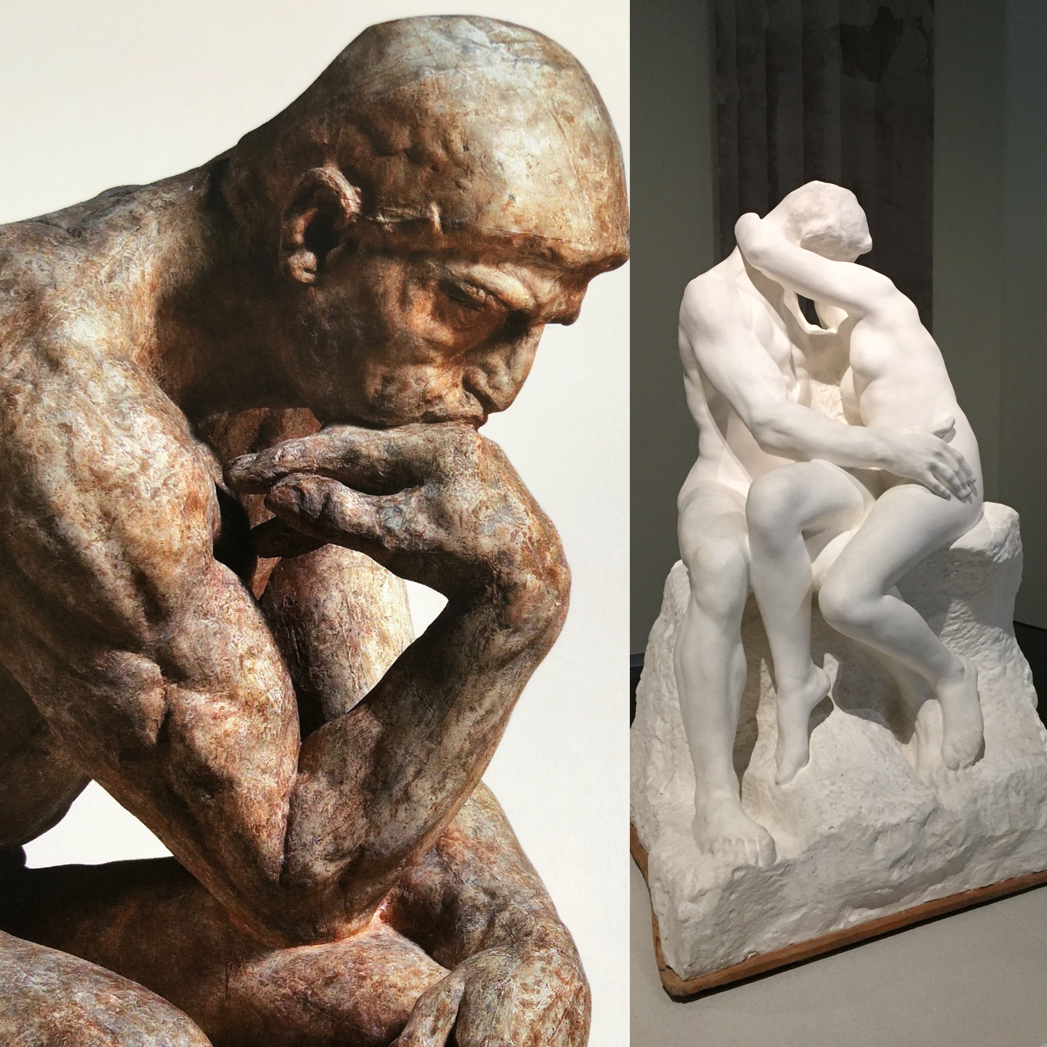 Rodin's The Thinker And The Kiss