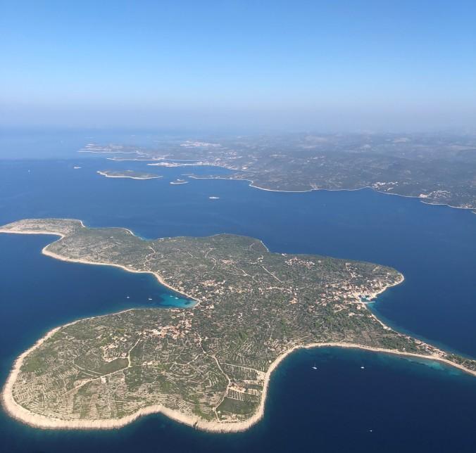 Flying Into Split, Croatia