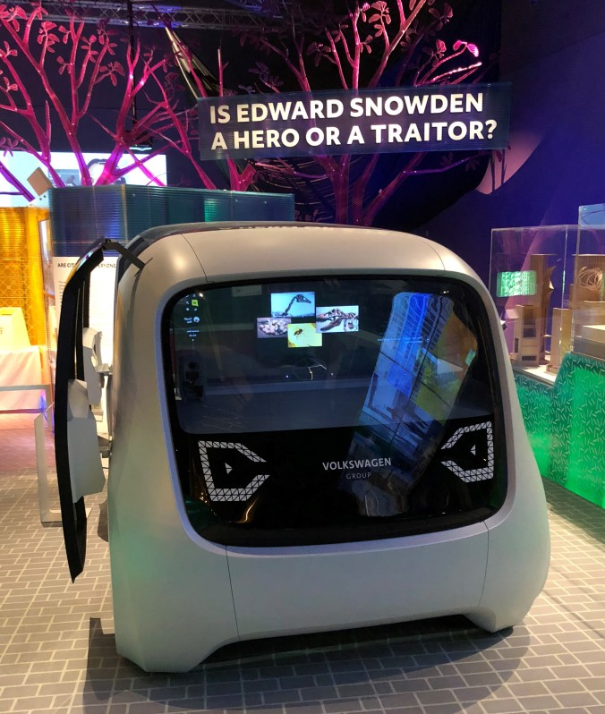 Driverless Car At The V&A Future Starts Here Exhibition