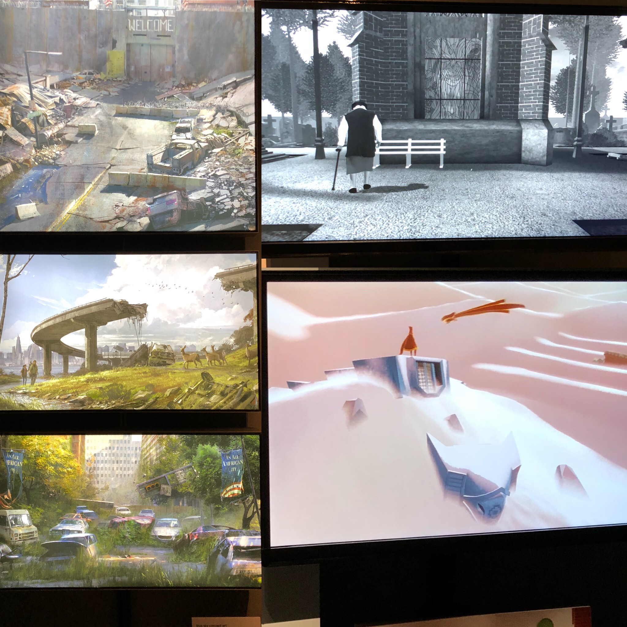 Examples Of Modern Videogame Artwork at the V&A Videogame Exhibition
