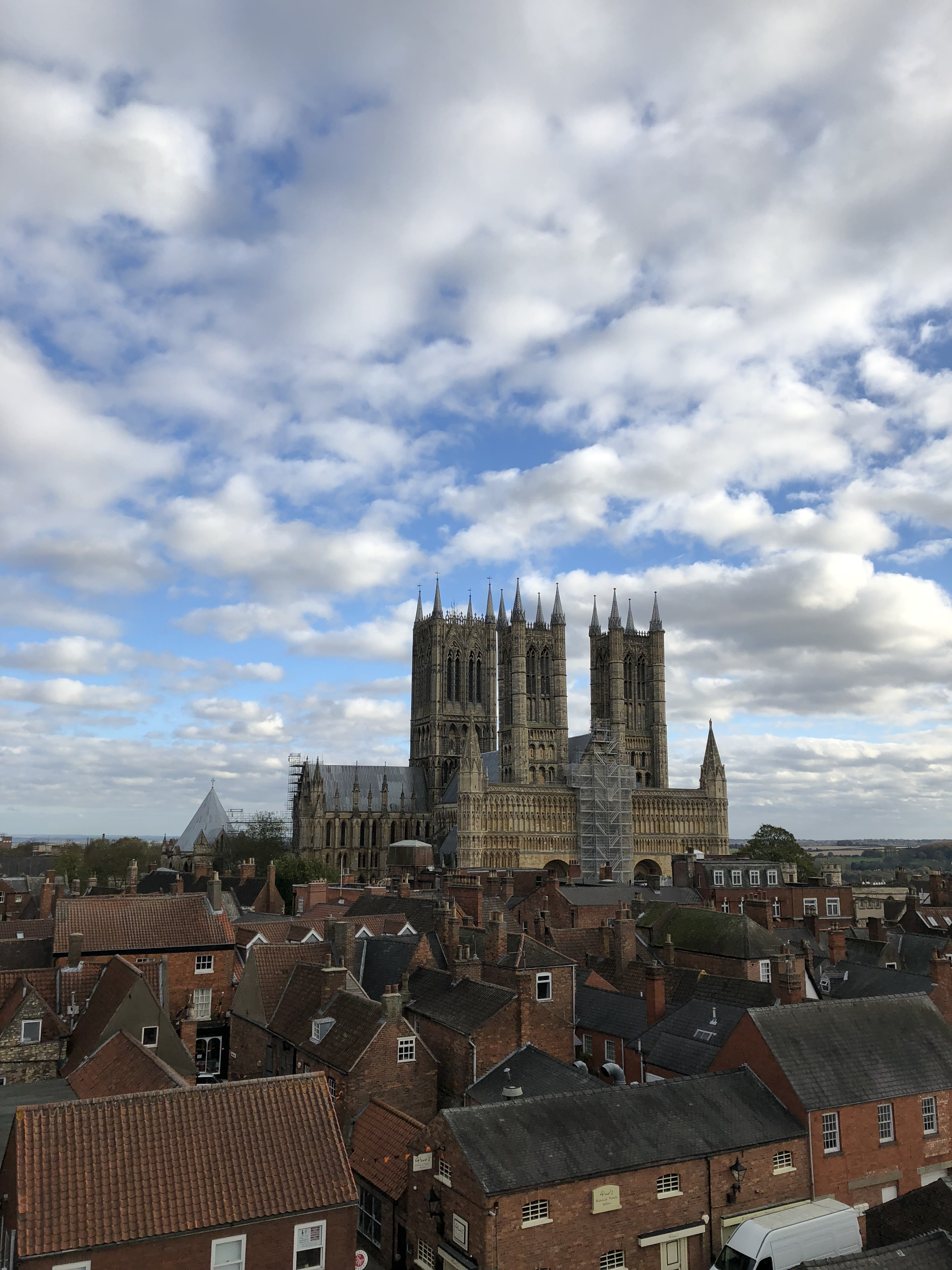 Lincoln Cathedral From The Castle Walls