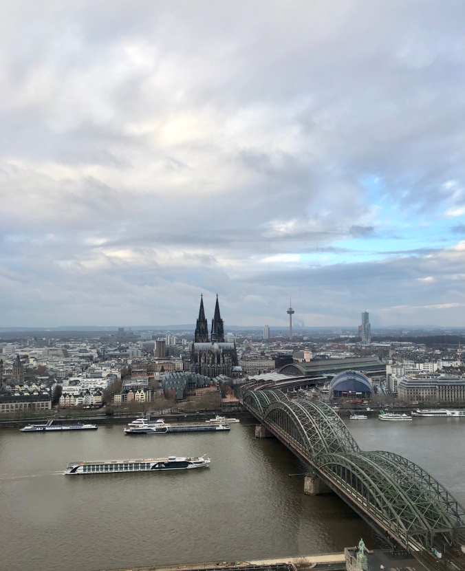 View Of Cologne From The Kohl Triangle