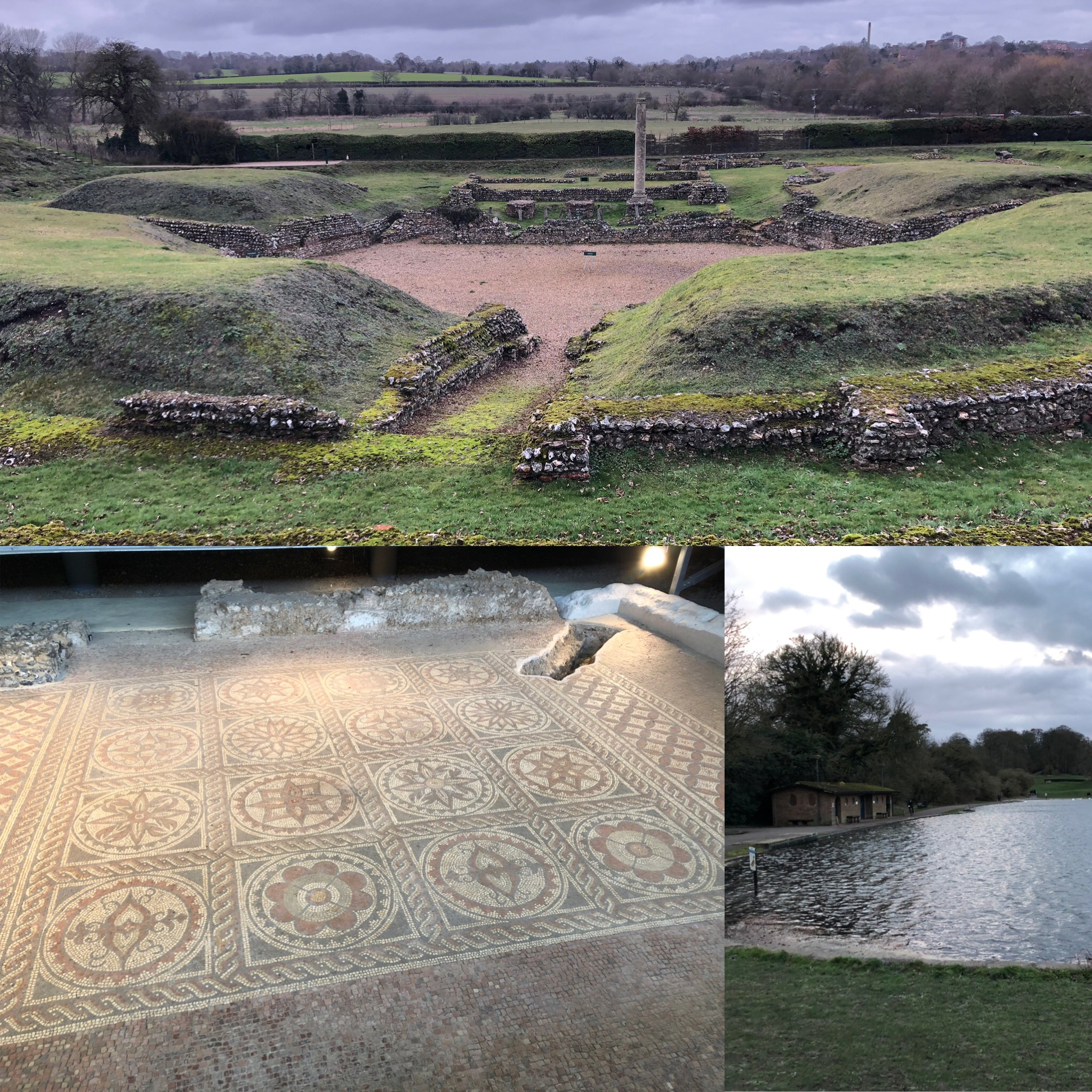 St Albans: Roman Theatre, Roman Mosaic And The Romantic Lake