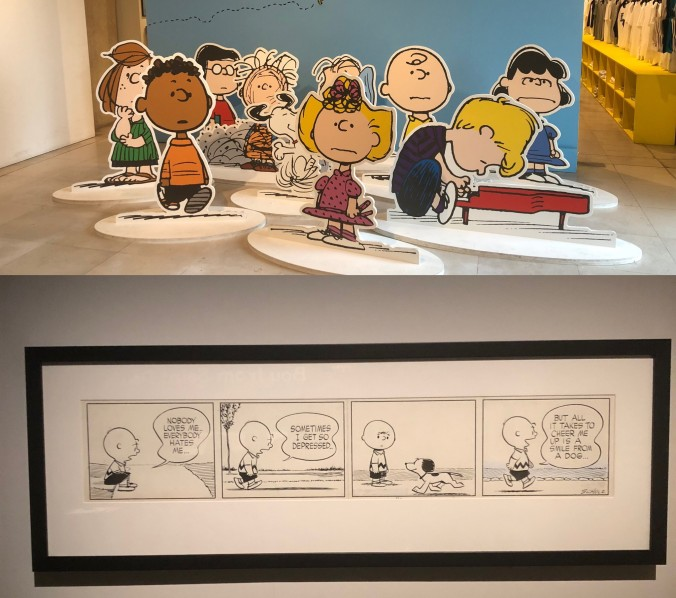 Charles M. Schultz's Characters From Peanuts And A Sample Early Cartoon