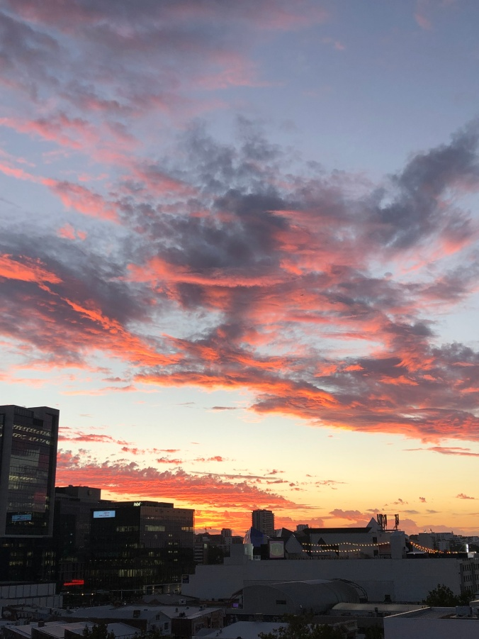 Sunset Over The Alex's Roof Top Bar