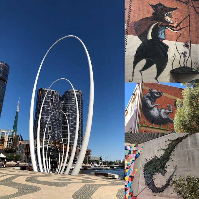 Perth Waterfront And Typical Graffiti