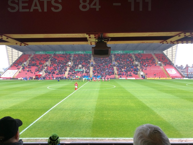 FGR Lining Up at Gresty Road, Crewe Alexandra