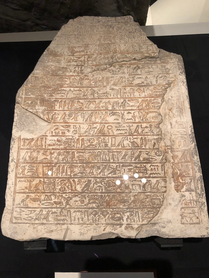 A Limestone Stela With Classical Heiroglyphs