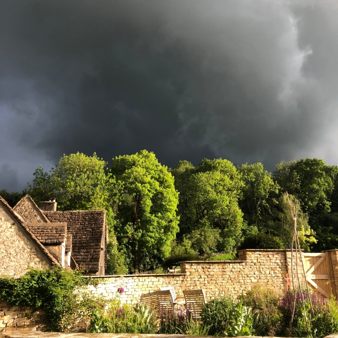 View From The Garden - Sun And Impending Hailstorm