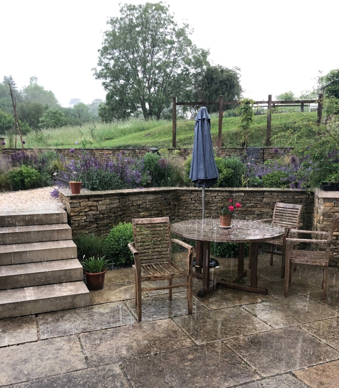 The Garden In A Hailstorm