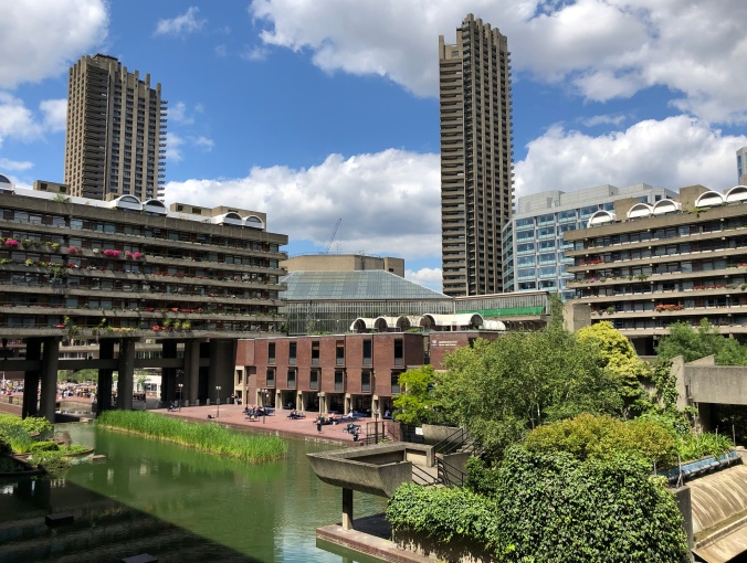 View Of The Barbican Complex In The Sun