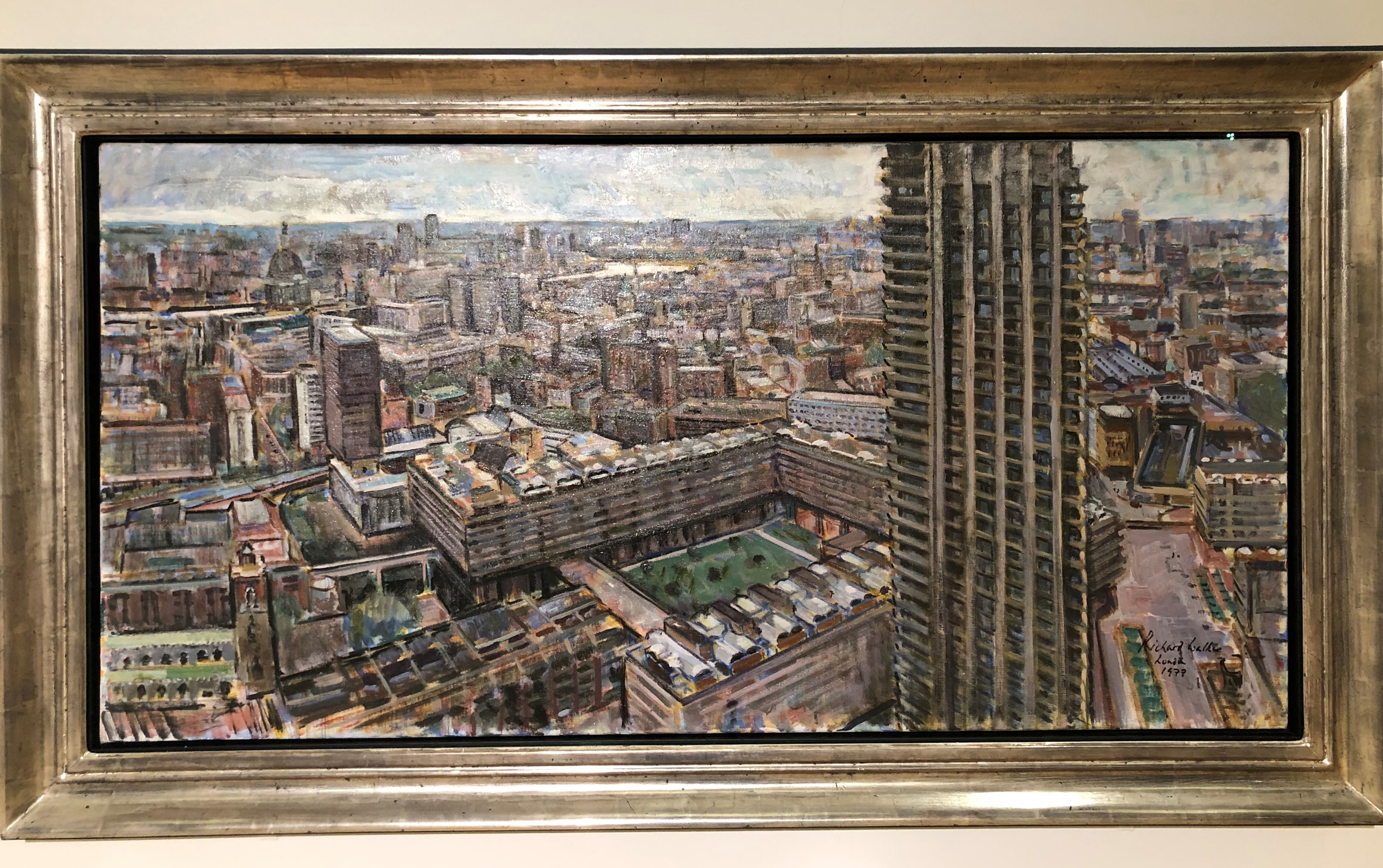 London From Crowwell Tower, Barbican By Richard Ian Bentham Walker (1977)
