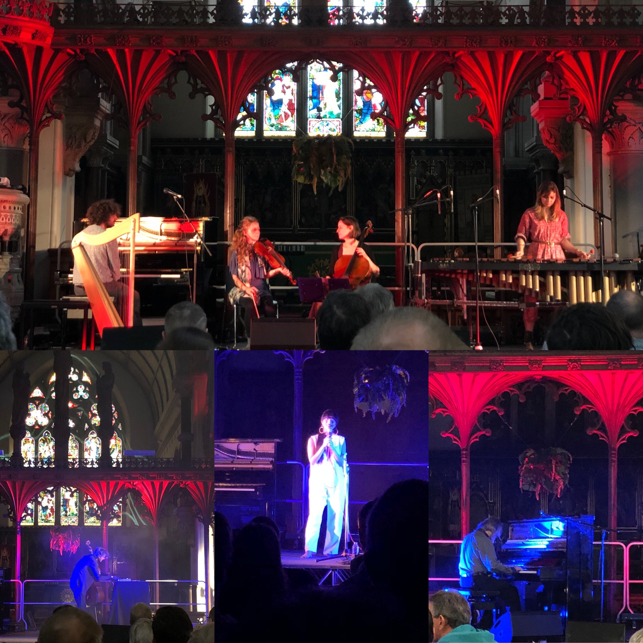 Spindle Ensemble, Sebastian Plano, Hatis Noit and Lubomyr Melnyk At The Hidden Notes Festival At St Laurence Church, Stroud