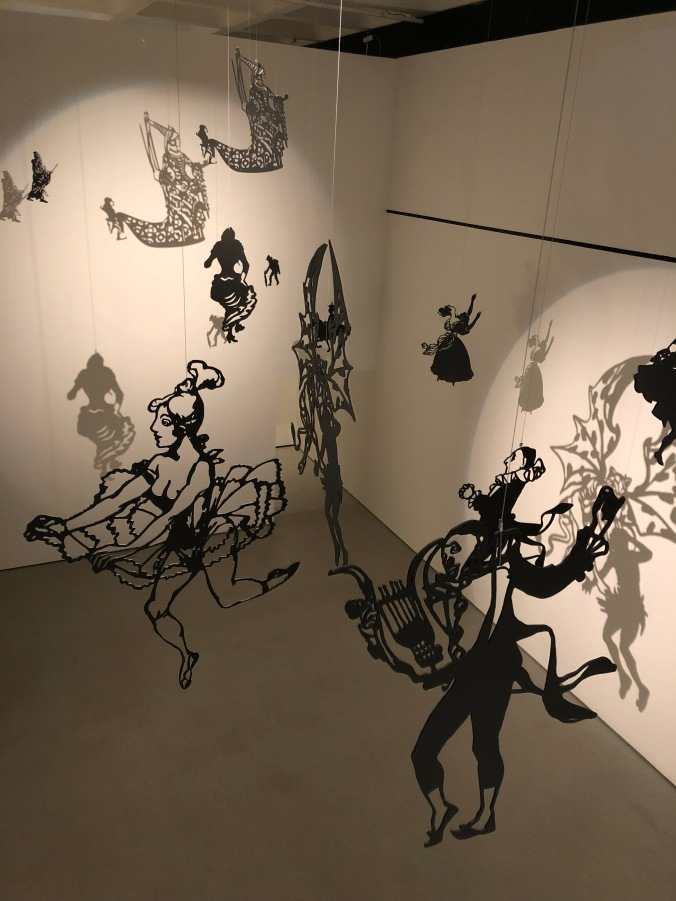 Reconstruction Of Chat Noir's Shadow Theatre Pieces In The Barbican Exhibition: Into The Night