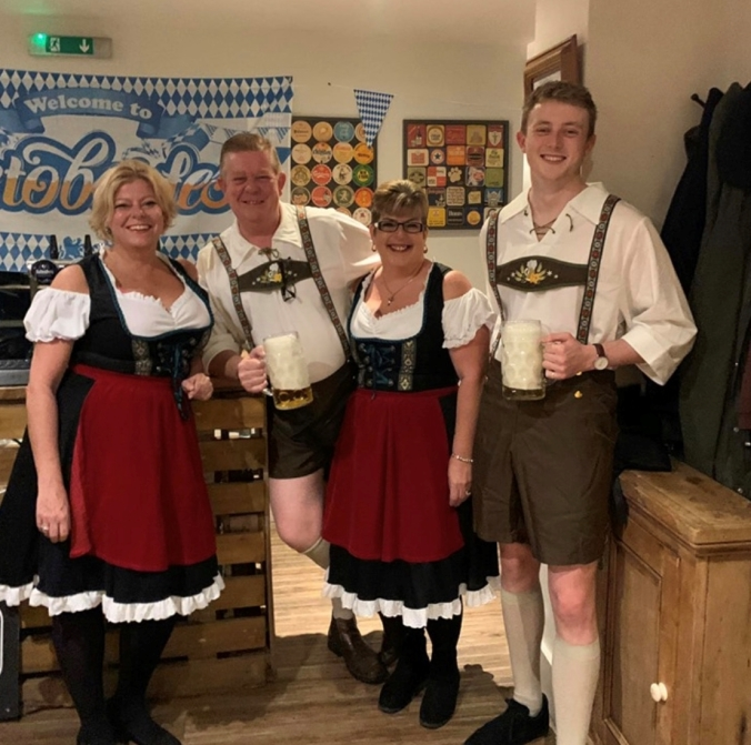 Postscript: Goodbye October Celebrated Nicely In Our Local Pub's Octoberfest