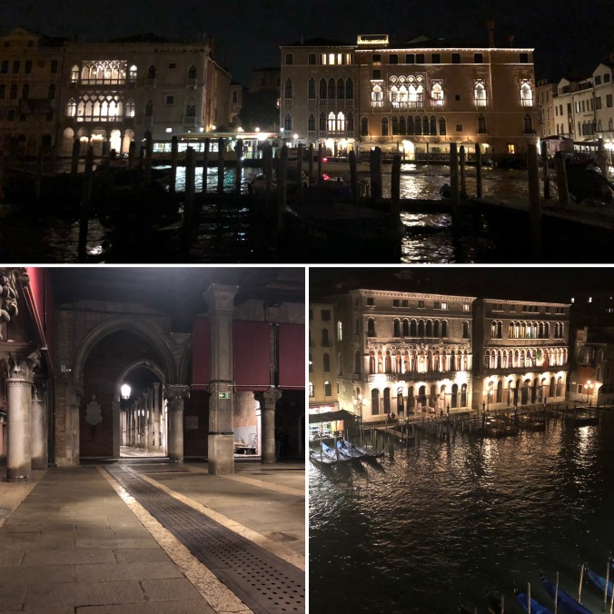 Grand Canal and Market Buildings At Night