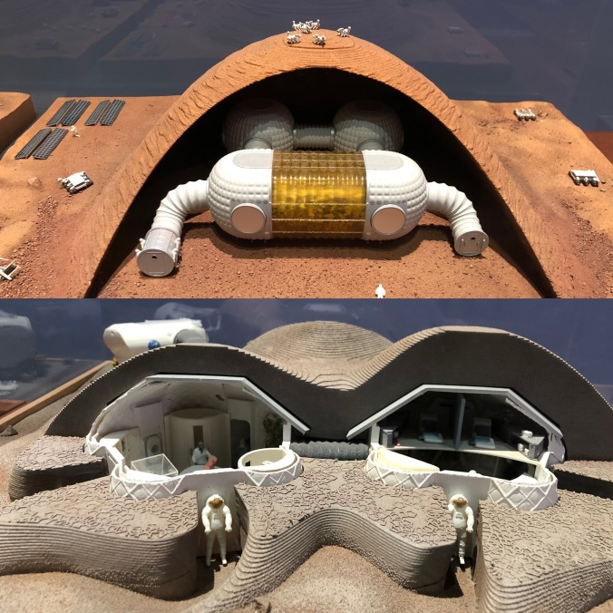 Models Of Habitats Designed For Robot Builds and Human Habitation On Mars