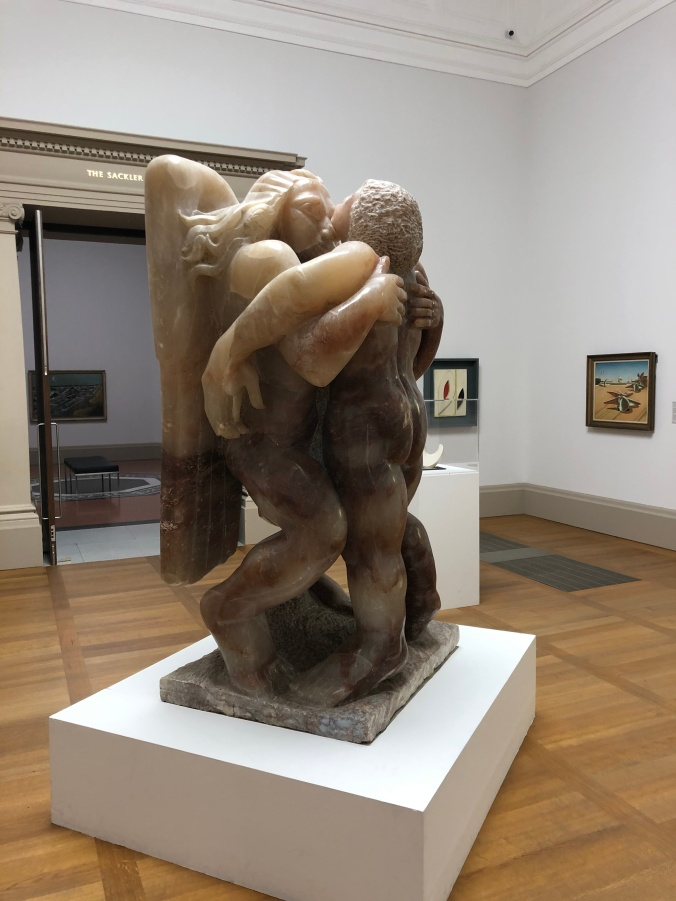 Jacob And The Angel By Sir Jacob Epstein