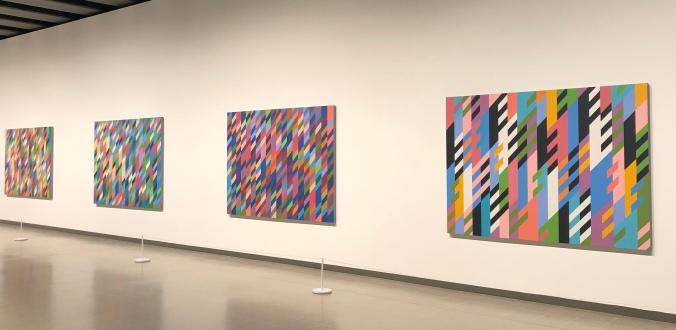 Stripes And Diagonals By Bridget Riley At The Hayward Gallery