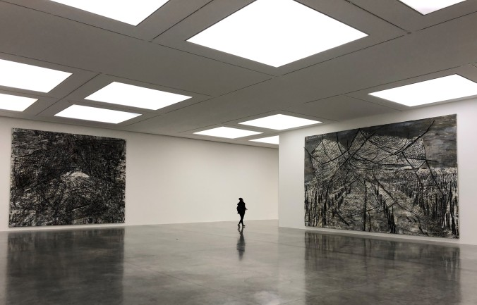 The White Cube Gallery With Anselm Keifer Paintings