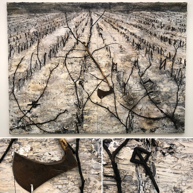 Anselm Kiefer Painting at The White Cube Gallery - Standing Back And Up Close