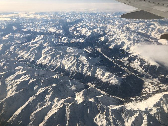 One Of Those Dreamy Views Out Of An Aeroplane Window - In This Case Over The Alps
