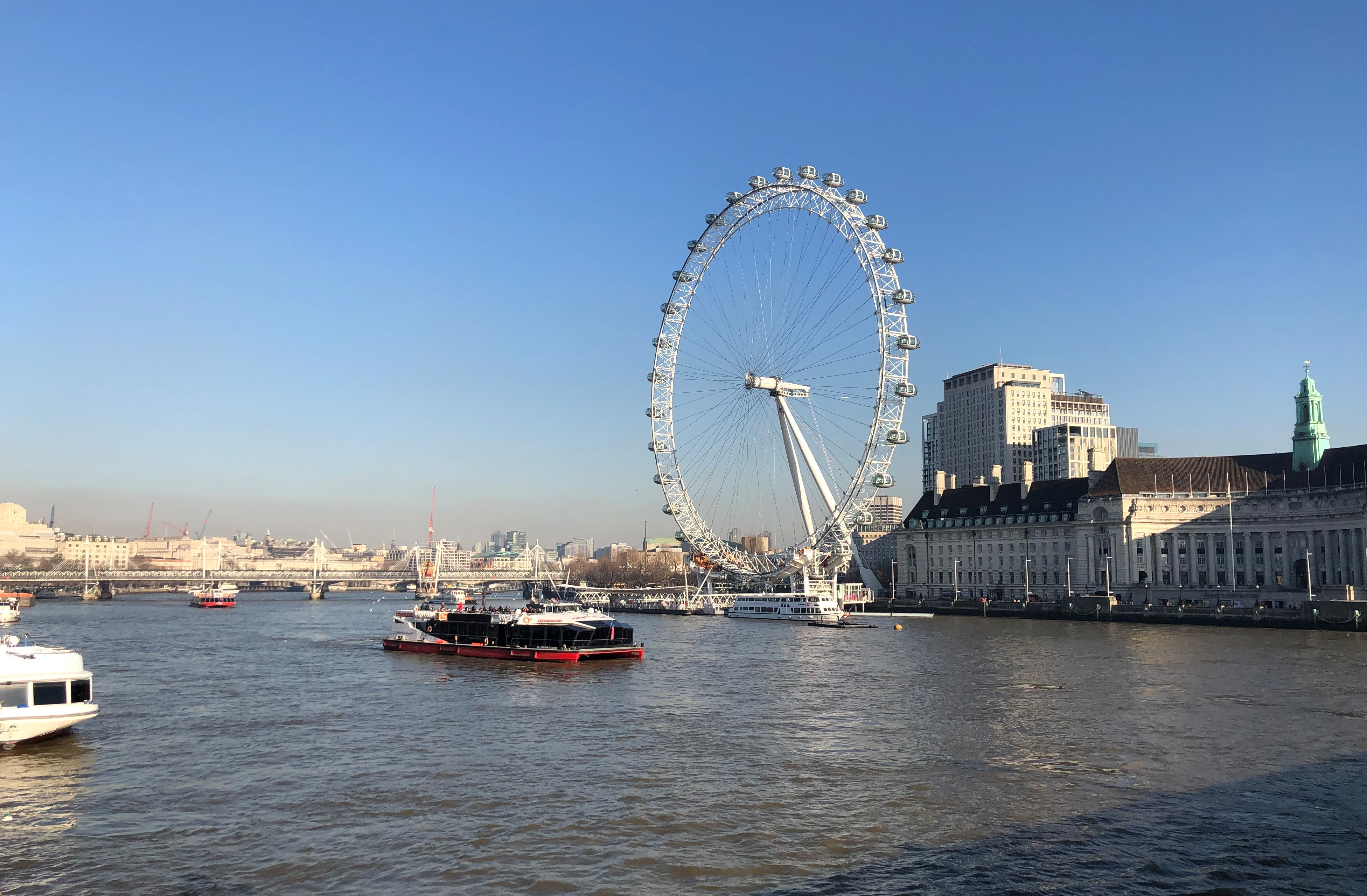 Bright London Day From Westminster Bridge