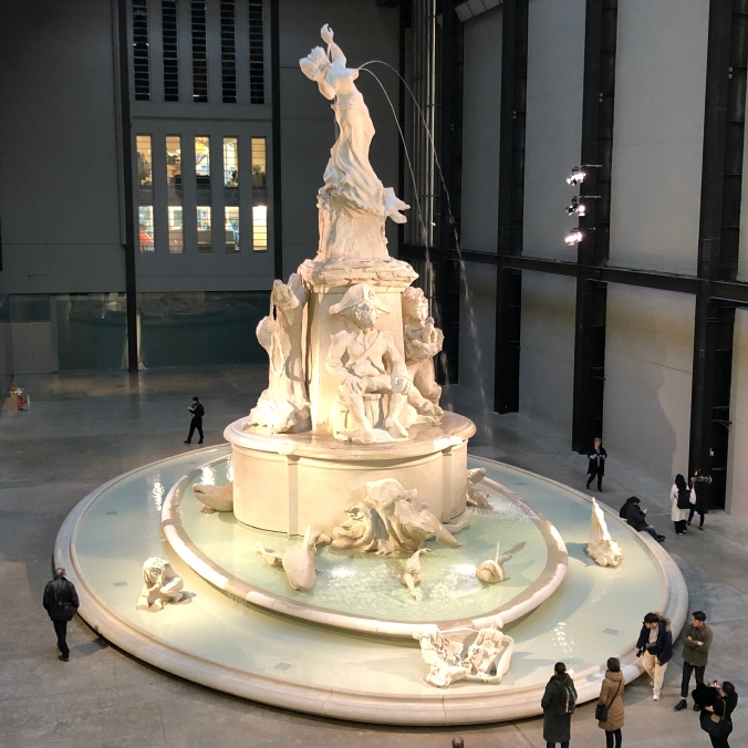 Kara Walker's Huge Fountain In The Turbine Room At The Tate Modern