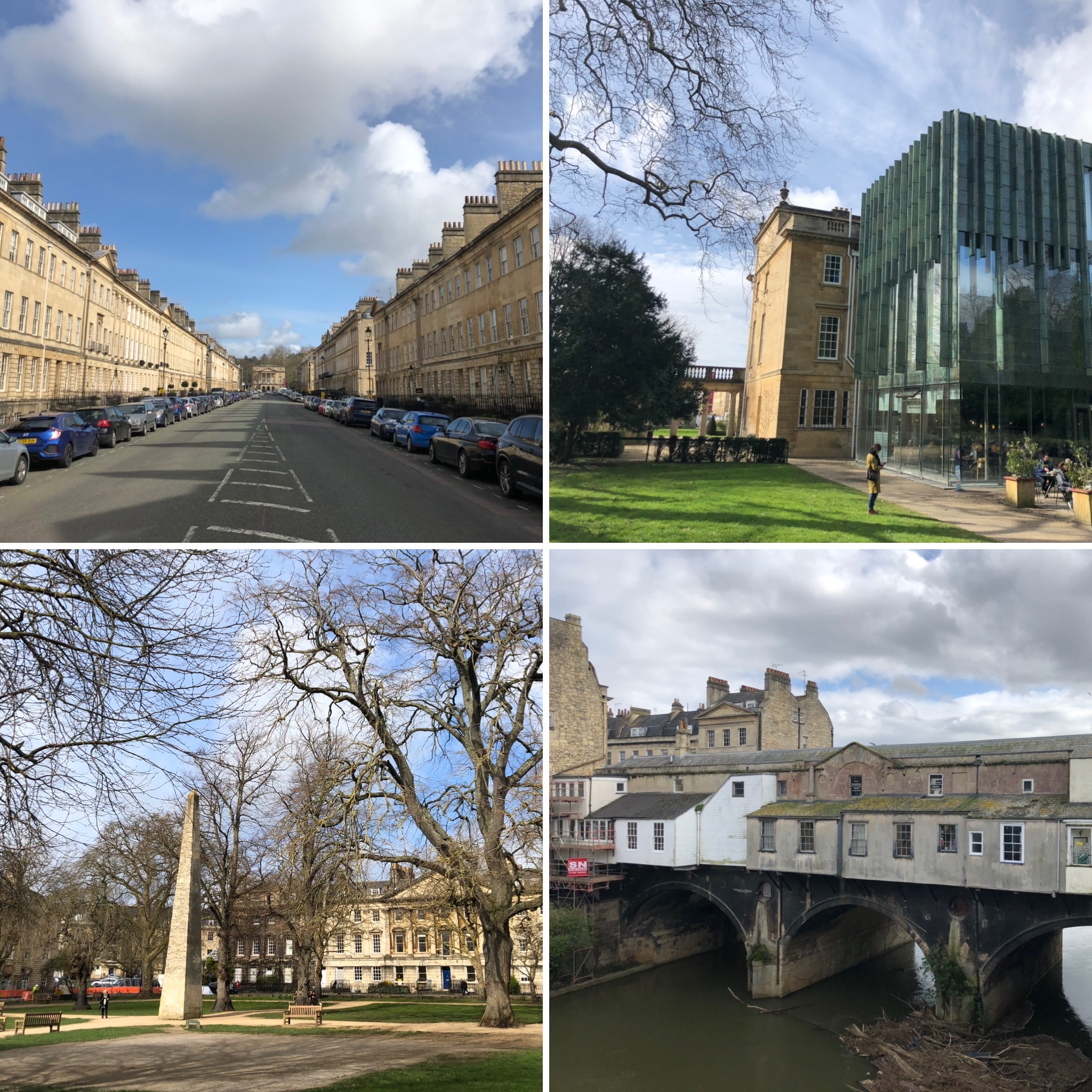 Views Of Bath: Holbourne Museum (Top), Queen Square (Bottom Left) And Pulteney Bridge