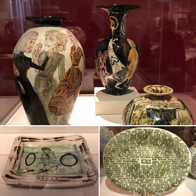 Vases And Plates by Grayson Perry, Holbourne Museum Exhibition