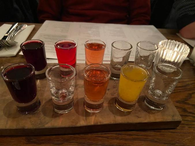 A Selection Of Vodkas, Part Finished. Best Was The Horseradish Flavoured One