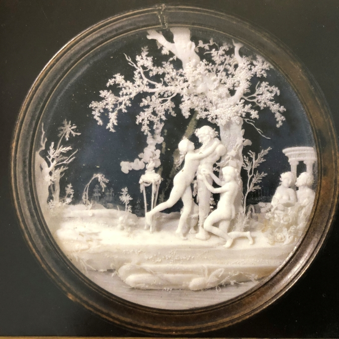 Late 18th Century Ivory Carving - Incredible Detail In A 6cm Diameter Minature