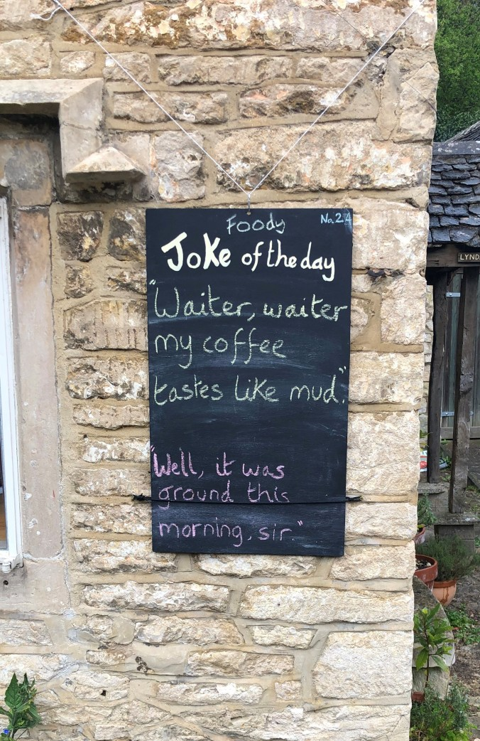 One Of The Innovations That Has Sprung Up In Our Hamlet - One Of Three A Joke-A-Day Boards