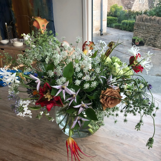 Flowers From London Flower School Left Over After YS's Shoot