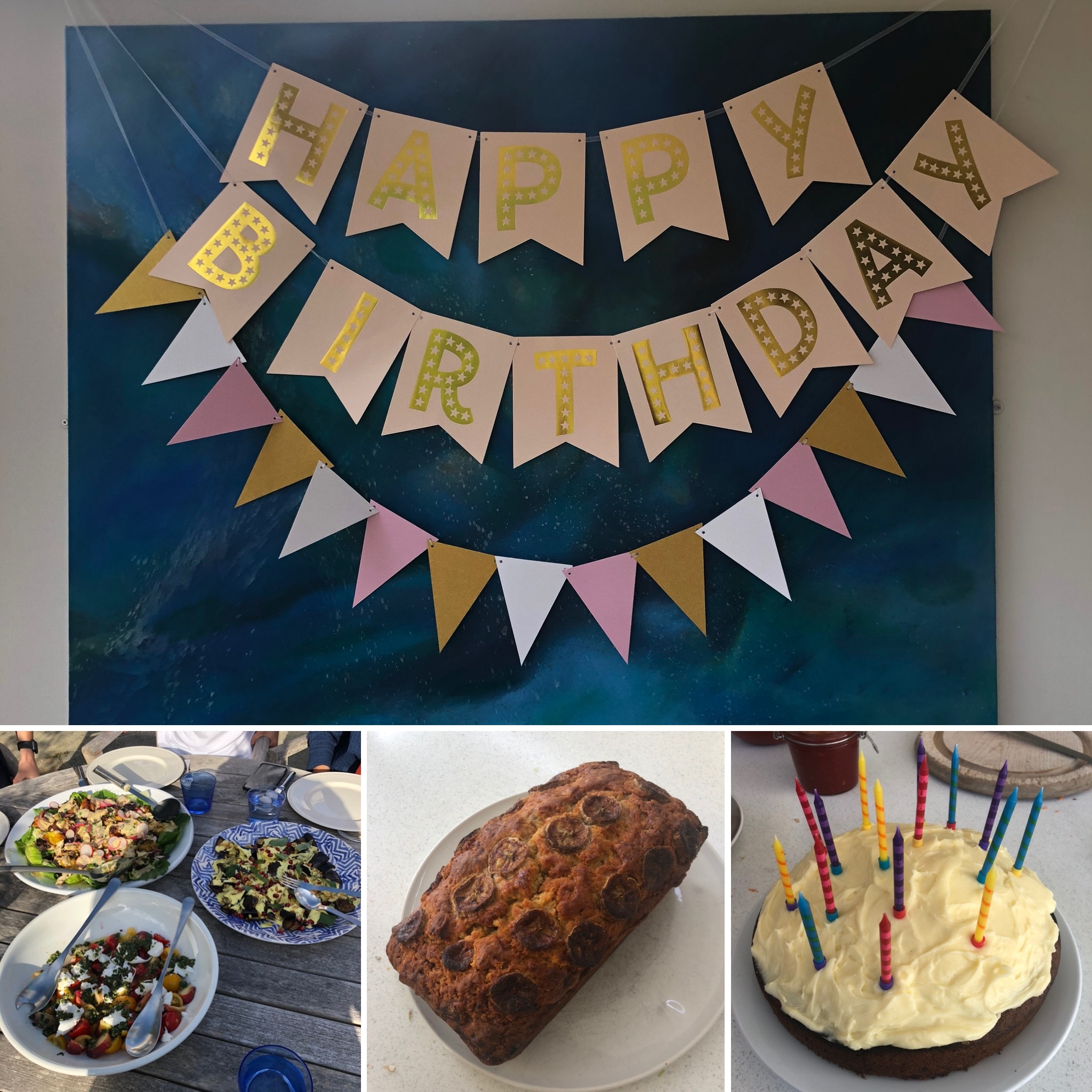 Birthday Banners And Delicious Homemade Birthday Food