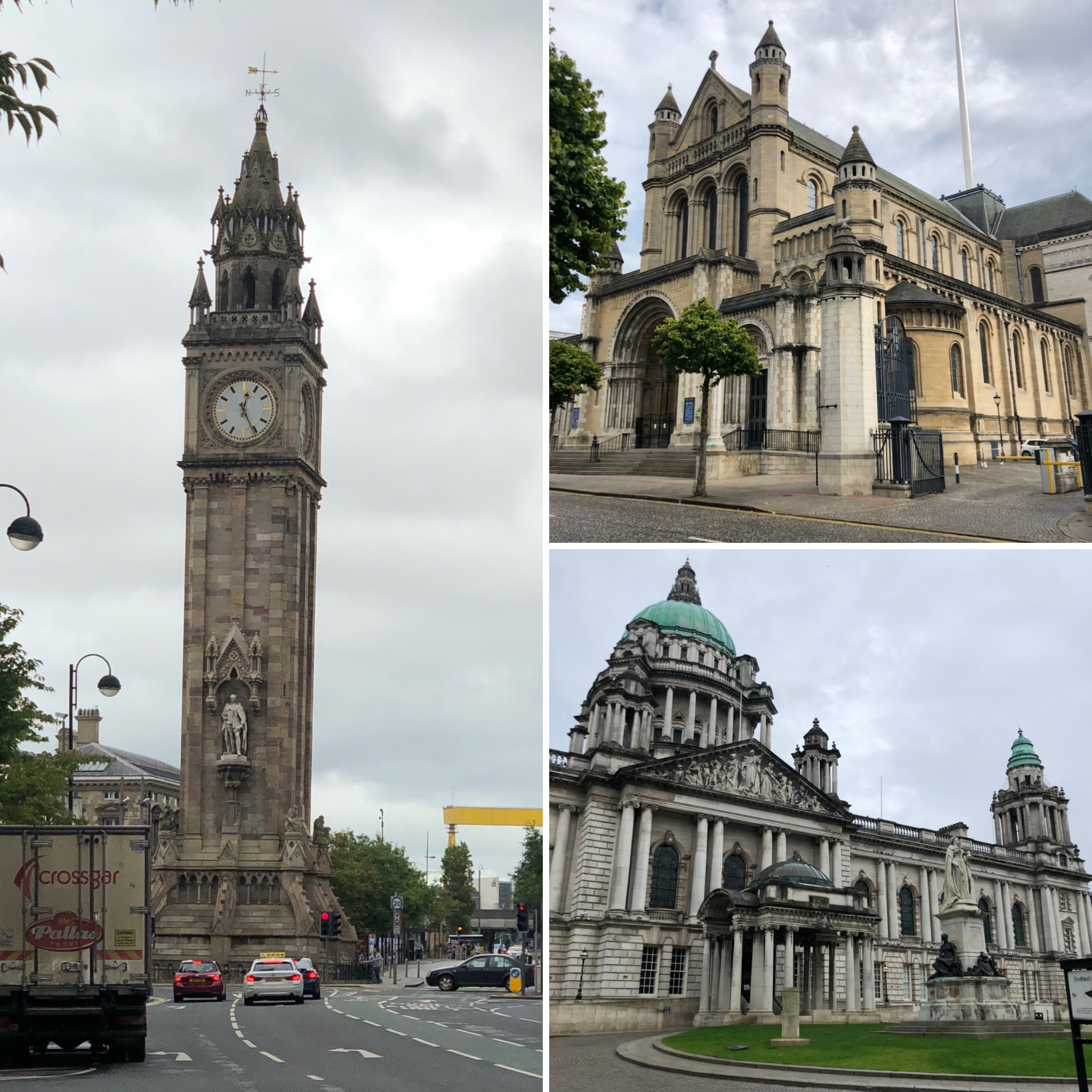 Albert Memorial Clock (Yes, It Really Is Leaning Over), St Annes Cathedral And Belfast City Hall