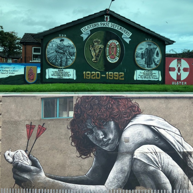 Two Of The Very Many Street Murals Reflecting The Troubles Of The Past