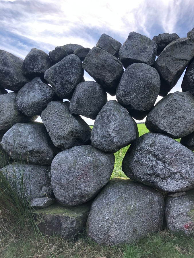 Granite Wall In The Mourne Mountains